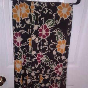 Lularoe Large Maxi Skirt Floral NWOT
